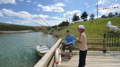 Mavi Göl'de balık şöleni