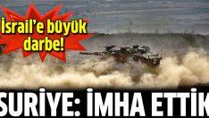 Suriye: İsrail'in askeri aracını yok ettik