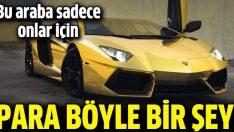 Süper zenginler için altın kaplama Lamborghini