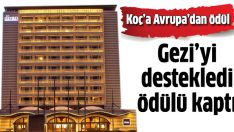 Divan Otel'e Gezi ödülü