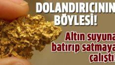 Altın diye pirinç madenini sattı!