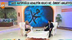 Said Hatioğlu Zahide Yetiş'in programında!