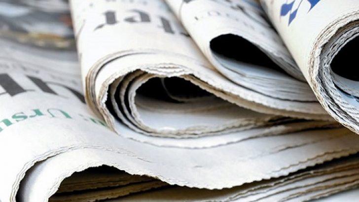 Günün gazete manşetleri – 1 Ekim 2018