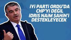 İyi Parti, Ordu'da İdris Naim Şahin'i destekleyecek