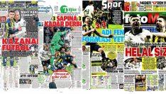 Tarihi Beşiktaş Fenerbahçe derbisi sonrası spor manşetleri (26 Şubat 2019)