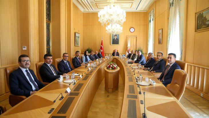 TBMM Başkanı Şentop Adalet Bakanı Gül ve HSK üyelerini kabul etti