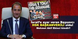 İsrail'e ayar veren Başsavcı HSK Başkanvekili oldu! HSK Başkanvekili Mehmet Akif Ekinci kimdir?